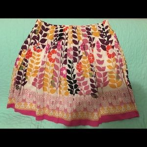 Eci lined skirt - size 8 - growing flowers
